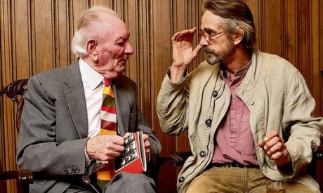 Brian Friel and Jeremy Irons