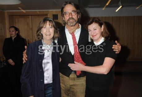 Eileen Atkins, Jeremy Irons and Josephine Hart attend the Josephine Hart poetry hour, at the British Library on September 30, 2009 in London, England. (Photo by Dave M. Benett/Getty Images)