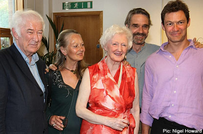 Stars: Seamus Heaney, Ann Carteret, Valerie Eliot, Jeremy Irons and Dominic West