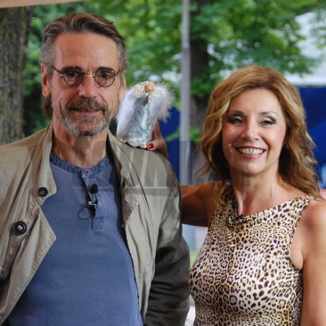 Jeremy Irons and Alena Heribanova