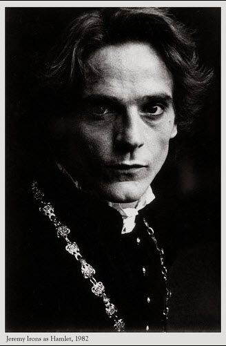 Jeremy Irons as Hamlet (1982) Photo by Kent Miles