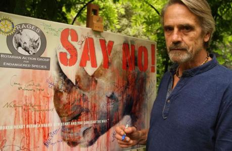 Jeremy Irons supports RAGES (Rotarian Action Group for Endangered Species)