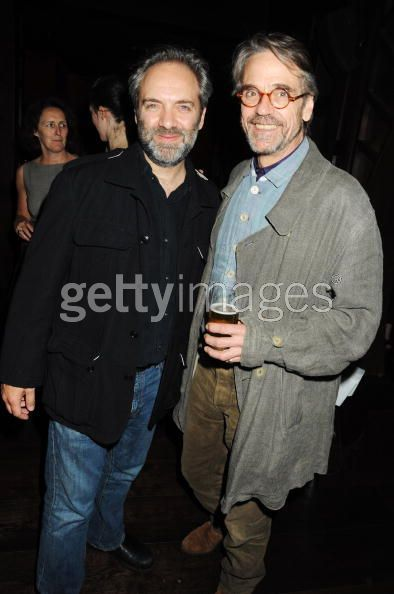 Sam Mendes and Jeremy Irons - photo by Dave M. Bennett/Getty Images