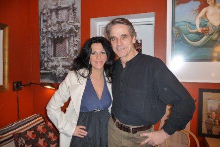 Angela Gheorghiu and Jeremy Irons - photo from www.angelagheorghiu.com