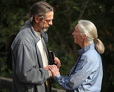 Jeremy Irons and Dr. Jane Goodall