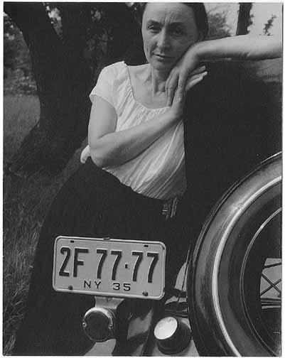 Photo of Georgia O'Keeffe taken by Alfred Stieglitz at Lake George