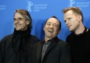 Actors Irons, Spacey and Bettany pose during photocall at the 61st Berlinale International Film Festival in Berlin