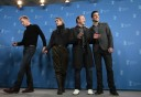 Actors Bettany, Irons, Spacey and Quinto pose during photocall at the 61st Berlinale International Film Festival in Berlin