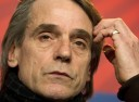 British actor Jeremy Irons addresses a p
