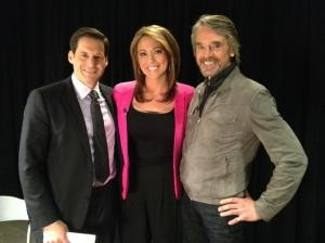 John Berman, Brooke Baldwin and Jeremy Irons