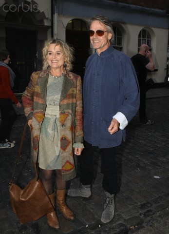 Jeremy Irons and Sinead Cusack at the Ireland Film Institute in Dublin, Ireland