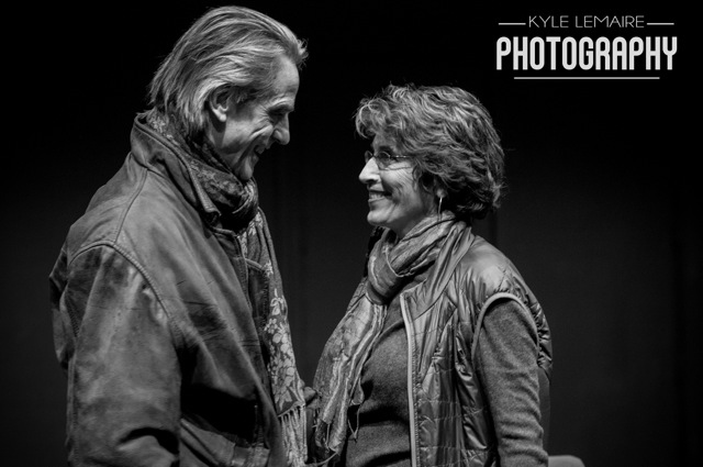Jeremy Irons-97 with Karen Ludwig at the New School for Drama