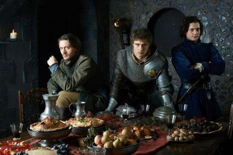 David Oakes, Max Irons and Aneurin Barnard in 'The White Queen'