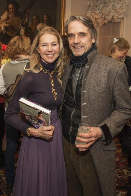 jeremy irons francesca bortolotto possati celebrate venice book launch