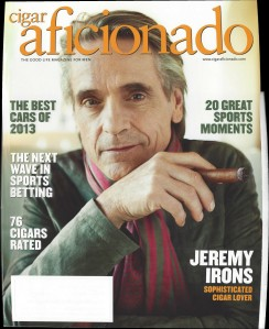 Panorama Stitched Image of Cigar Aficionado Cover