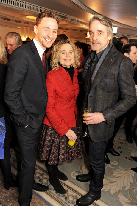 Tom Hiddleston, Sinead Cusack and Jeremy Irons at the South Bank Sky Arts Awards (Photo via Dave M. Benett/Getty Images)