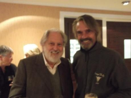 David Puttnam and Jeremy Irons, at the Bellings Dinner. Photo via A Taste of West Cork on Facebook