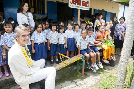 Hot topic: Jeremy Irons' celebrity status could also draw attention to an issue even closer to his heart: the welfare of Indonesian children. Courtesy of Rio Helmi