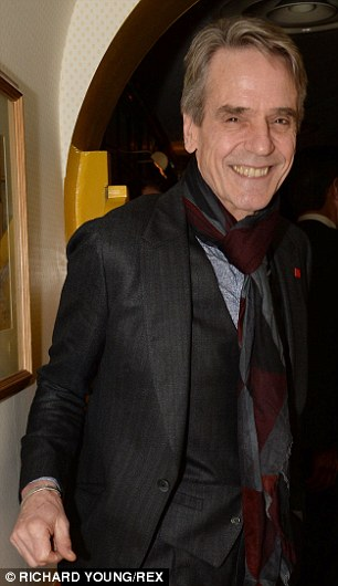 Jeremy Irons was one of the special guests at the Charles Finch and Chanel Pre-BAFTA dinner at Mayfair restaurant Annabel's.