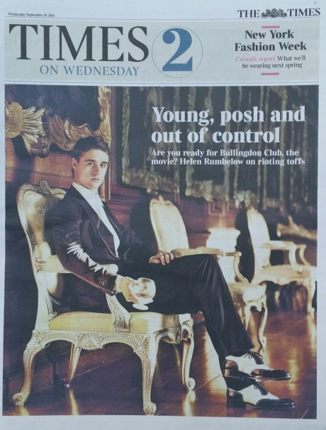 Max in The Times Wednesday 10 September 2014 Part 1