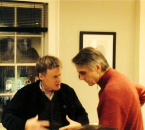 Author Ian Walthew with Jeremy Irons. Photo via @CherryRad on Twitter