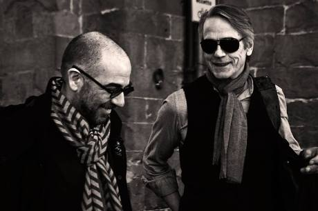 Director Giuseppe Tornatore and Jeremy Irons. Photo via Lucca Film Festival Facebook page.