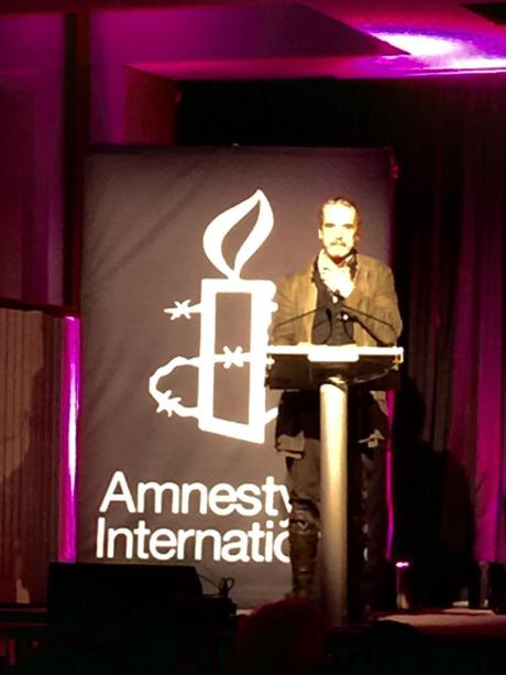 Jeremy Irons supports Art for Amnesty. Photo via @Art4Amnesty on Twitter