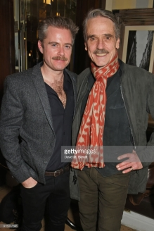 "LONDON, ENGLAND - FEBRUARY 06: Cast members Rory Keenan (L) and Jeremy Irons attend the press night after party of ""Long Day's Journey Into Night"" at Browns on February 6, 2018 in London, England. (Photo by David M. Benett/Dave Benett/Getty Images)"