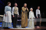 "bows at the curtain call during the press night performance of ""Long Day's Journey Into Night"" at Wyndhams Theatre on February 6, 2018 in London, England."