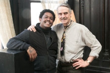 Photo by Beowulf Sheehan - Jeremy Irons with Danez Smith