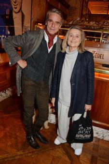 "LONDON, ENGLAND - OCTOBER 10: Jeremy Irons and Sinead Cusack attend an after party for ""Happy Birthday, Harold"", a charity gala celebrating the life and work of Harold Pinter and the press night performance of ""Pinter At The Pinter"", at Brasserie Zedel on October 10, 2018 in London, England. (Photo by David M. Benett/Dave Benett/Getty Images)"